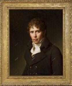 Old Master Art Portrait of Man Gentleman Oil Painting Canvas Unframed 30x40 inch