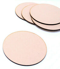 10x Wooden MDF Plain Coasters 100mm Craft Blanks Circle Shapes