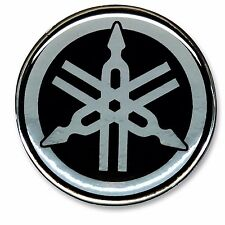 """2.1/8""""x1PC. YAMAHA CLEAR RESIN COATED ON REFLECTIVE METALLIC STICKER DECAL"""