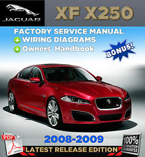 Jaguar XF X250 2008-2009 FACTORY REPAIR SERVICE MANUAL WORKSHOP