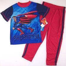 AME Superman Man of Steel Boys 4-Piece Pajama Set Size 6