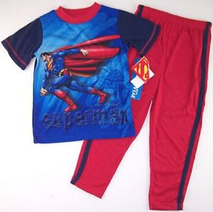 NWT Superman Boy's 2 Pc. Pajama Set Pajamas, Size 4