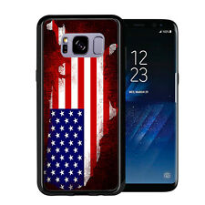 Grunge USA Flag Shape Outline For Samsung Galaxy S8 2017 Case Cover by Atomic Ma