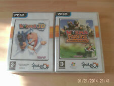 worms 3d & worms forts under siege     new&sealed