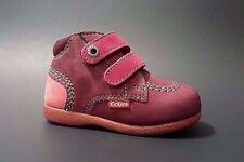 New $80 KICKERS Shoes Baby Girls Boys LEATHER Prewalk Size 4,5 USA/20 EURO