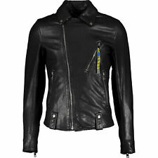 65% OFF DIESEL leather biker jacket XL 100% lambskin BLACK GOLD style
