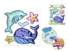 Balloon Blasts WHALE & DOPLHIN wall stickers 4 big 3D pop-up decals Sea Life