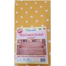 Mobilier de tissu Jaune pois blanc 170x280 couvre tout granfoulard Housse Coton