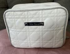Christian Dior Dior Beauty Makeup Bag Quilted Cream White~ NEW