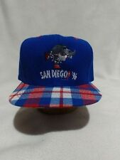Vintage 90s NWOT San Diego GOP SnapBack Otto Baseball Cap Cop Trucker Hat Plaid