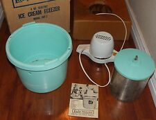 Lady Vanity 4 Qt Ice Cream Freezer Frz-7 Merit Maker Turquoise Blue Instructions
