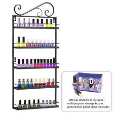 Black Wire Metal Nail Polish Display Organizer Wall Rack (Fit up To 50 Bottles)