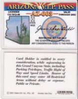 AZ VIP - ARIZONA STATE VERY IMPORTANT PERSON id card Drivers License