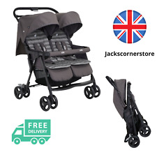 Joie Aire Double Twin Buggy Pushchair Stroller Includes Raincover - Dark Pewter