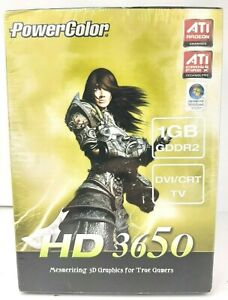 PowerColor HD3650 ATI Radeon 3D Graphics Card 1GB 128bit Crossfire X PCI-E SEALD