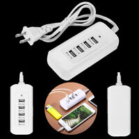 4 Multi-Port USB Desktop Wall Charger Fast Charging Station Hub Power Adapter US
