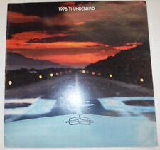 1978 Thunderbird Brochure 021715R