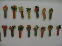 PEZ PIN BADGE COLLECTION - VINTAGE 1970's DISNEY CHARACTERS 15Pcs. BY KOLINSK