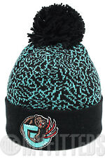 VANCOUVER GRIZZLIES Mitchell & Ness KL73 Crack Pattern Pom Knit Hat