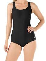 Speedo Womens Swimwear Black Size 10 Open PowerFlex Ultraback One-Piece $68 094