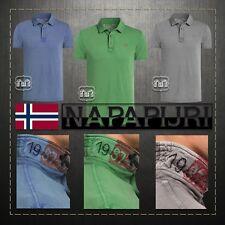 New Men $115 Napapijri ETCH Slim Fit Polo Shirt Grey Green Blue Navy Original