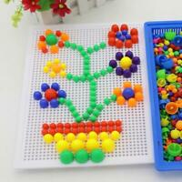 Children Kids Puzzle Peg Board With 296 Pegs Educational Toys Gift For Kids U6S8