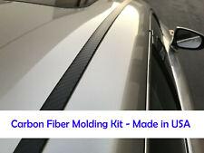 For CADILLAC 2002-2018 Models 2pcs Flexible CARBON FIBER ROOF TRIM Molding Kit