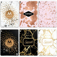 PERSONALISED MARBLE SPLATTER WITH NAME CUSTOM HARD CASE COVER FOR APPLE IPAD