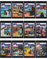 12 x Zeitschrift HiFi Vision 1986 HiFi Stereo Audio Magazin / Ganzer Jahrgang