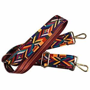 Wide Strap 122 cm Replacement Guitar Style Multicolor Crossbody Strap Handbags