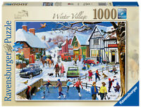 RAVENSBURGER PUZZLE*1000 TEILE*LEISURE DAYS 3*WINTER VILLAGE*RARITÄT*OVP