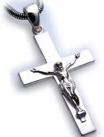 Pendentif Croix Avec Jesus Argent Véritable 925 Sterling Neuf Qualité Inri Mixte