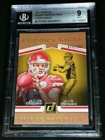 BGS 9 RC POP 2 *PATRICK MAHOMES II /100 *ONLY 1 HIGHER *SSP ROOKIE *2017 Donruss