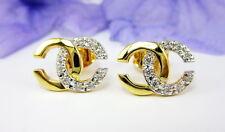 CUTE THAI FASHION STUD CZ SMALL EARRINGS Chic Jewelry 22K 18K Yellow Gold GP GT6