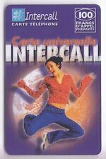 FRANCE TELECARTE / PHONECARD PREPAYEE .. 100F INTERCALL  FILLE GYM V°1 12/02+N°