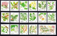 PALAU 1987 SG172/188 Flowers - set of 17 (44c perf) - unmounted mint. Cat £55