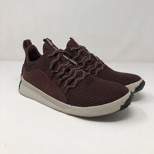 Sorel Out N About Plus Sneakers Women's Waterproof Shoes Sz 7.5 Burgundy