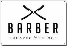 BARBIER rase et finitions métal A4 Signe, rasoir, art Flash, Poster, Barber Pole