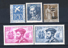 FRANCE STAMP ANNEE COMPLETE 1934 , 5 TIMBRES NEUFS xx LUXE , VALEUR : 434€ R437