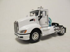 DCP 1/64 SCALE T-660 KENWORTH DAY CAB WHITE  (CUSTOM MADE INTO A SINGLE AXLE)