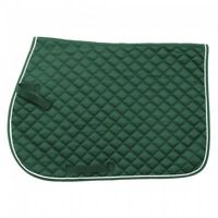 EquiRoyal Green Quilted Cotton Comfort Square English Saddle Pad Horse Tack