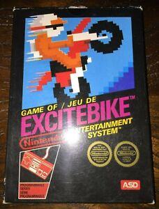 Jeu complet NES Excite Bike ASD - PAL FRA - TBE - RARE