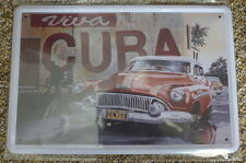 Viva Cuba Tin Metal Sign Painted Poster Comics Book Superhero Wall Decor Art