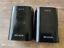 2 x Belkin f5d4077 Powerline adapters good pre owned condition .