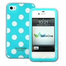 Kate Spade New York Phone Cover For iPhone 4 Hard Shell Case Polka Dots Blue