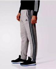 NWT Men's Adidas Fleece Pants 3S Gray Heather XS Active Running Jogging Pants