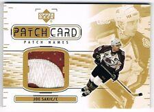 2001-02 01-02 UPPER DECK UD PATCH CARD NAMES SERIES II #NA-JS JOE SAKIC !!