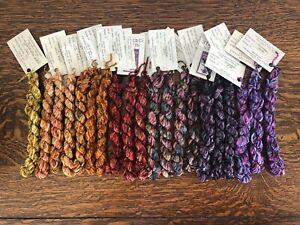 The Thread Gatherer - Silken Chenille- Hand Dyed SilkThreads. 20 skeins. (2)