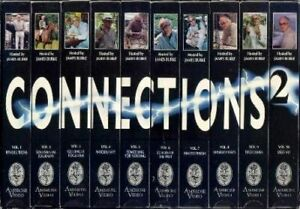 James Burke CONNECTIONS 2 - 10 VHS Box Set RARE Science & Technology Documentary