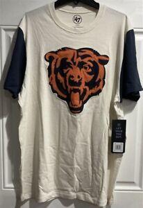 Chicago Bears NFL '47 Brand Sandstone Embroidered Men's Tee Shirt